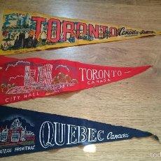 Vintage: ANTIGUOS BANDERINES DE CANADA AÑOS 60'S TORONTO QUEBEC. Lote 72239909