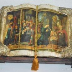 Vintage: ANTIGUO LIBRO RELIGIOSO ENVEJECIDO DECORATIVO EL MAESTRO DE LAS FIGURAS VER FOTOS PFS. Lote 58325826