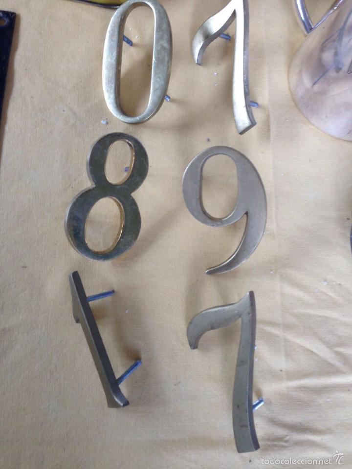 Vintage: Letras bronce macizas decoración vintage 38 piezas - Foto 3 - 58332615