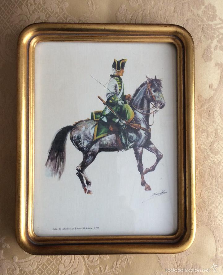 lamina enmarcada años 60 de regimiento de cabal - Comprar en ...