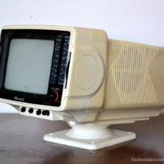 Vintage: CURIOSA TELEVISION PORTATIL MARCA MAXMUSIC * VINTAGE * MUY DECORATIVA * SPACE. Lote 58429662