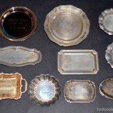 Vintage: LOTE 25 BANDEJITAS METÁLICAS. ALPACA Y SIMILAR.. Lote 47861135