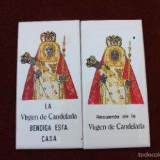 Vintage: 2 AZULEJOS VIRGEN DE LA CANDELARIA. Lote 58828871