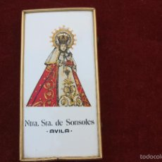 Vintage: AZULEJO ENMARCADO VIRGEN DE SONSOLES, AVILA. Lote 58828946