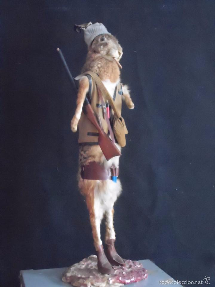INCREIBLE TAXIDERMIA CAZADORES - OJO A MISTER RABBIT- DECO VINTAGE TROFEO DE CAZA (Vintage - Decoración - Varios)