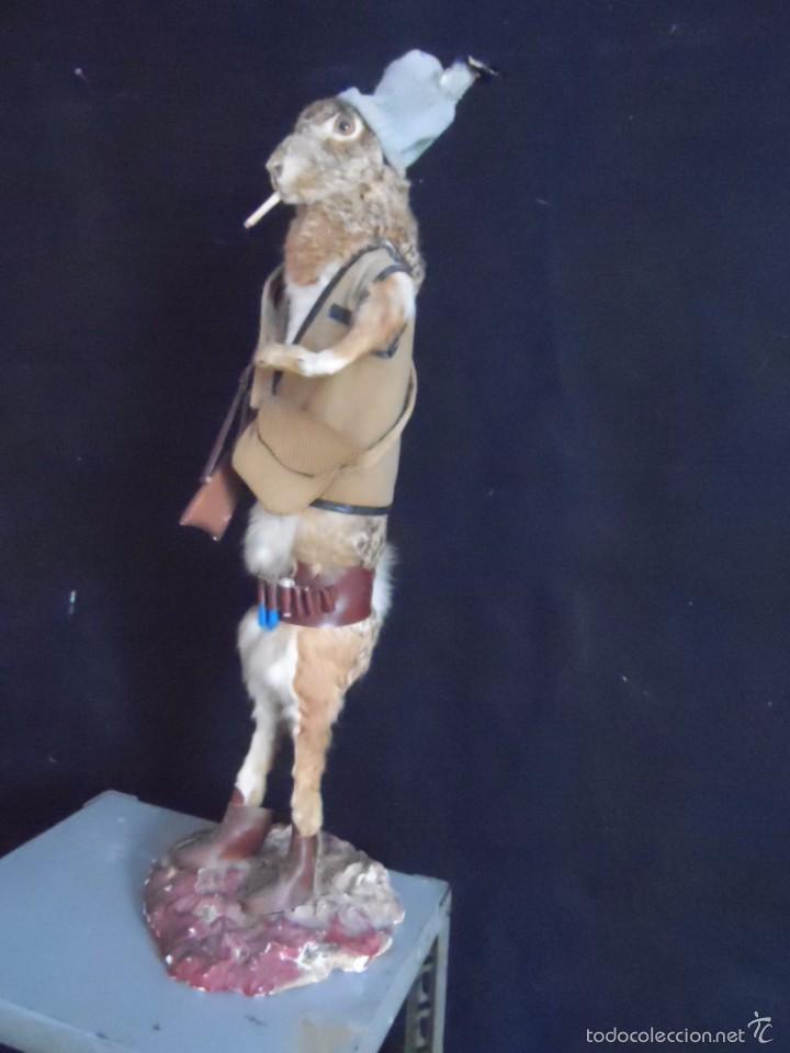 Vintage: increible TAXIDERMIA cazadores - OJO a MISTER RABBIT- DECO VINTAGE trofeo de caza - Foto 4 - 58923220