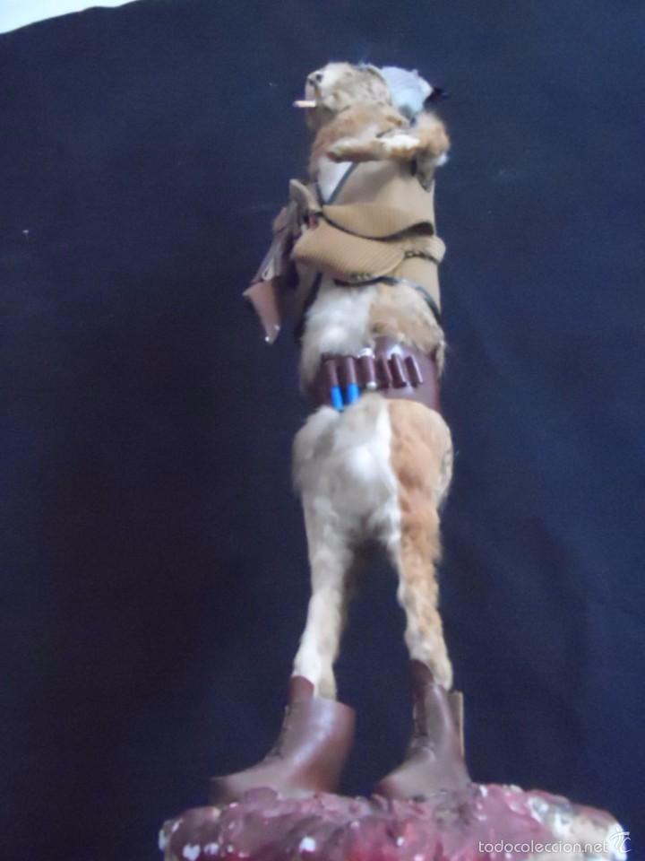 Vintage: increible TAXIDERMIA cazadores - OJO a MISTER RABBIT- DECO VINTAGE trofeo de caza - Foto 5 - 58923220