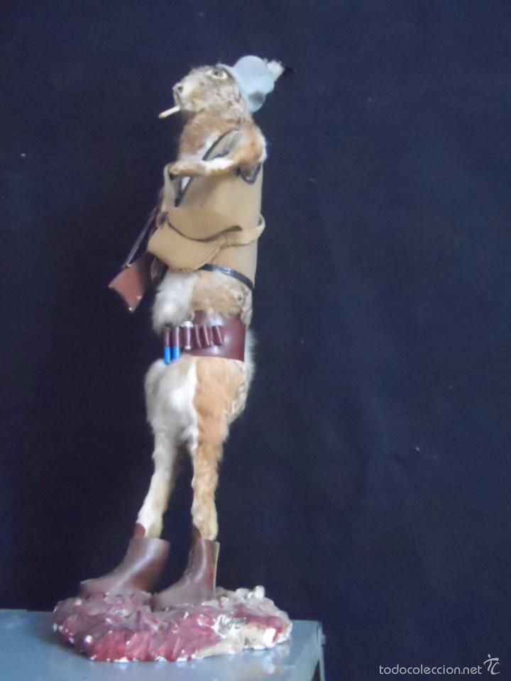 Vintage: increible TAXIDERMIA cazadores - OJO a MISTER RABBIT- DECO VINTAGE trofeo de caza - Foto 6 - 58923220