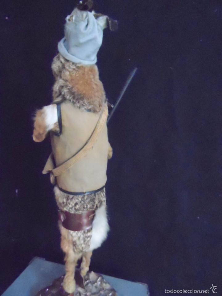 Vintage: increible TAXIDERMIA cazadores - OJO a MISTER RABBIT- DECO VINTAGE trofeo de caza - Foto 7 - 58923220