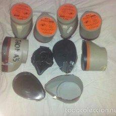 Vintage: 8 MASCARILLAS PARA PRODUCTOS TOXICOS - MASCARILLAS DE ESCAPE - PRECINTADAS SIN USAR. Lote 60075283