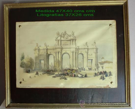 Vintage: PUERTA DE ALCALÁ litografía ANTIGUA.IDEAL DECORACIÓN - Foto 2 - 60157523