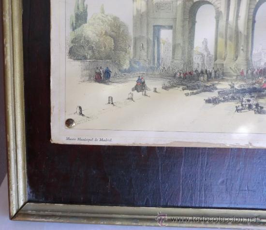 Vintage: PUERTA DE ALCALÁ litografía ANTIGUA.IDEAL DECORACIÓN - Foto 3 - 60157523