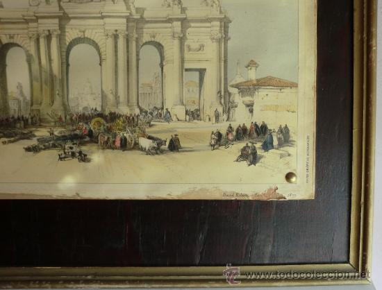 Vintage: PUERTA DE ALCALÁ litografía ANTIGUA.IDEAL DECORACIÓN - Foto 4 - 60157523