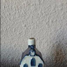 Vintage: CASITA BOTELLA EN CERÁMICA DE DELFTS. Lote 60600711