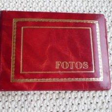 Vintage: ALBUM PORTAFOTOS DE PIEL ROJO ANTIGUO PARA 36 FOTOS DE 13X8. Lote 60717023