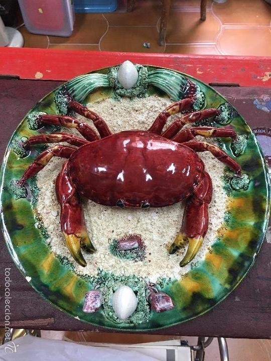 Plato ceramico marisco cangrejo ceramica obid comprar Ceramica portuguesa online