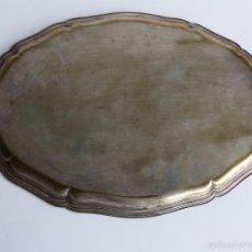 Vintage: ANTIGUA BANDEJA DE METAL PLATEADO. 46 X 32 CM. Lote 61265103
