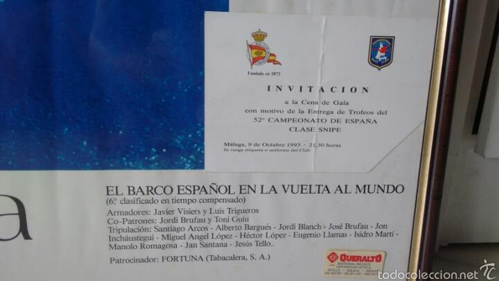 Vintage: Cuadro velero fortuna Con tarjeta invitacion ala entrega de trofeos Cto españa 93 - Foto 2 - 61407035