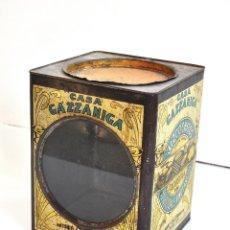 Vintage: LATA CHAPA VINTAGE RETRO CASA GAZZANIGA. Lote 62021420