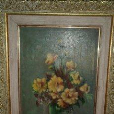 Vintage: PINTURA ANTIGUA OLEO FIRMADO C SANCHIS MARCO DORADO AÑOS 50 O 60. Lote 62185652