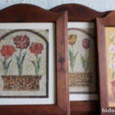 Vintage: MARCOS DE MADERA RÚSTICA PARA PORTAFOTOS O PINTURA. Lote 62998276