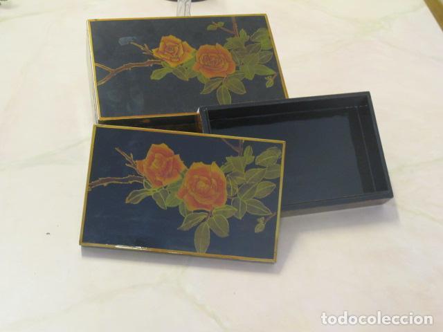 Vintage: 2 cajas de madera lacadas - Foto 2 - 31232440
