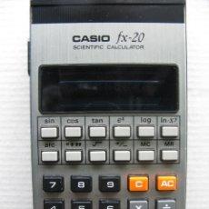 Vintage: CASIO FX-20. MANUAL DE INSTRUCCIONES. FUNDA ORIGINAL. MADE IN JAPAN.. Lote 63633215