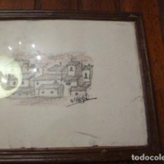 Vintage: MARCO CON DIBUJO SERA CASAS. Lote 63996039