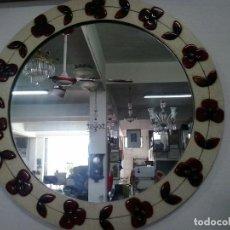 Vintage: ESPEJO DE MADERA LACADO.. Lote 64090967