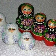 Vintage: LOTE MATRIOSKAS, MATRIOSKA, MATRIOSHKA, MAMUSHKA, MUÑECAS RUSAS ORIGINALES. Lote 194360660