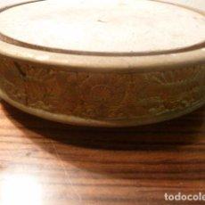 Vintage: PEANA MENSULA DE MADERA PARA CAMPANA URNA DE CRISTAL. Lote 65730698