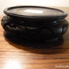 Vintage: PEANA MENSULA DE MADERA PARA ESCULTURA JARRON. Lote 65732474