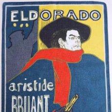 Vintage: TELA IMPRESA CON REPRODUCCION DE ART DECO. SIN USO. IDEAL PARA ENMARCAR. Lote 67458429