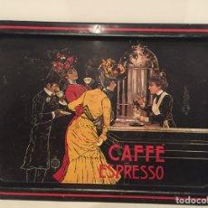 Vintage: BANDEJA METALICA CAFE ESPRESSO ANTIGUA. Lote 67617690