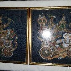 Vintage: PAREJA CUADROS ORIENTALES. Lote 67691513