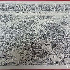 Vintage: CUADRO SIMIL ANTIGUO MAPA DE PARIS Y SUS BARRIOS. Lote 68265261