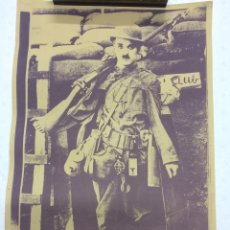 Vintage: POSTER CHARLIE CHAPLIN COMBATIENTE. Lote 68697871