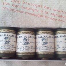 Vintage: CAJA CON 4 BOBINAS DE HILO PARA CALADOS.. Lote 68848829