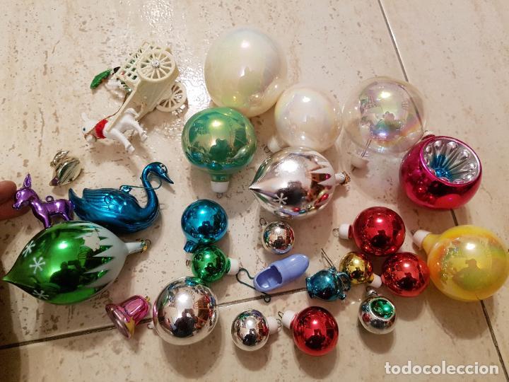 Antiguo lote decoracion navidad bolas guirnalda comprar - Decoracion navidad vintage ...