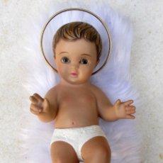 Vintage: NIÑO JESÚS DE ESTUCO PINTADO OJOS DE CRISTAL. AÑOS 60-70. Lote 68899237