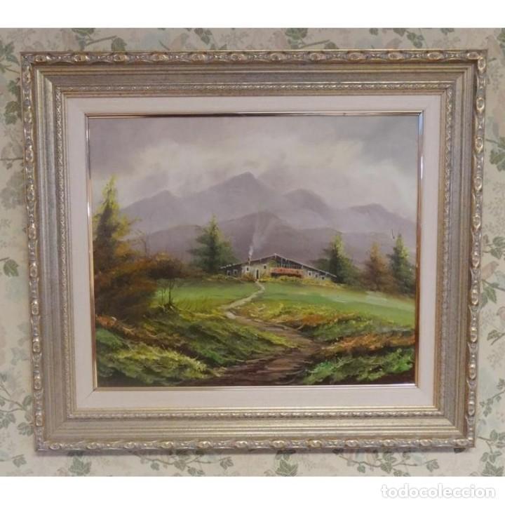 2 oleos pareja de cuadros paisajes enmarcados 7 - Comprar en ...