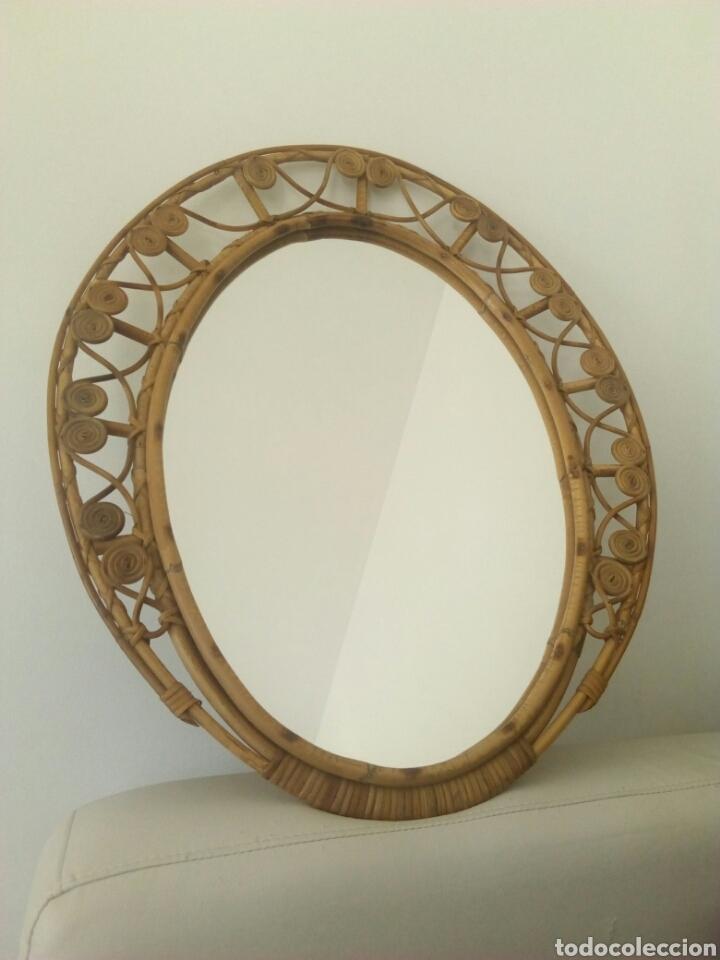 Espejo de mimbre a os 60 vintage 68 x 60 en comprar en todocoleccion 69494286 - Espejos de mimbre ...
