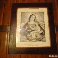 Vintage: MARCO DE CAOBA CON ESTAMPA LAMINA GRABADO. Lote 70077677
