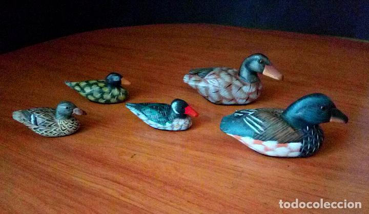 Patos formas de artesanía de madera x 10.