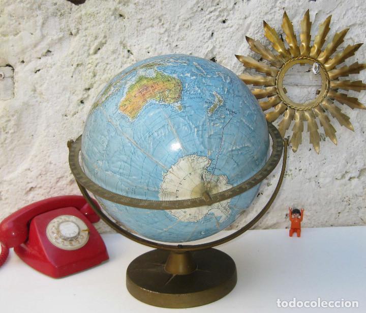 Bola del mundo globo terraqueo laton y carton a comprar - Bola del mundo decoracion ...