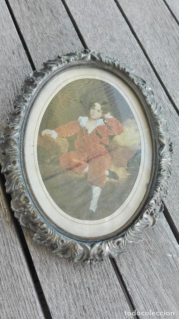 Vintage: Porta fotos antiguo de metal - Foto 2 - 70940621