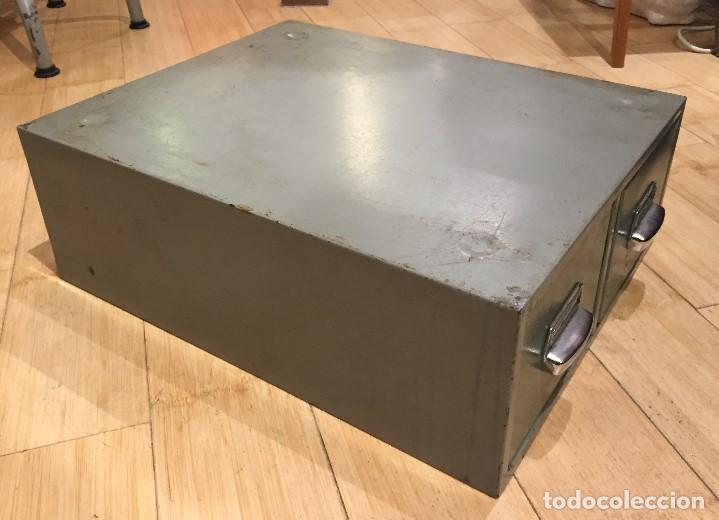 Vintage: Archivador dos cajones en metal - Foto 2 - 195386672