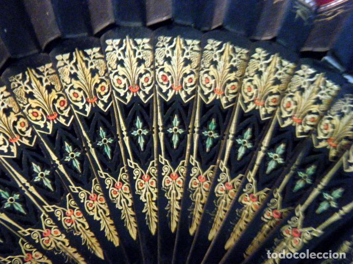 Vintage: Abanico S.XIX. tela pintada Arlequín Para restaurar o aprovechar varillaje - Foto 3 - 72161691