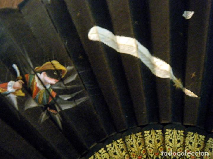Vintage: Abanico S.XIX. tela pintada Arlequín Para restaurar o aprovechar varillaje - Foto 5 - 72161691