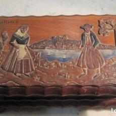 Vintage: CAJA JOYERO REALIZADA EN MADERA. Lote 72230835
